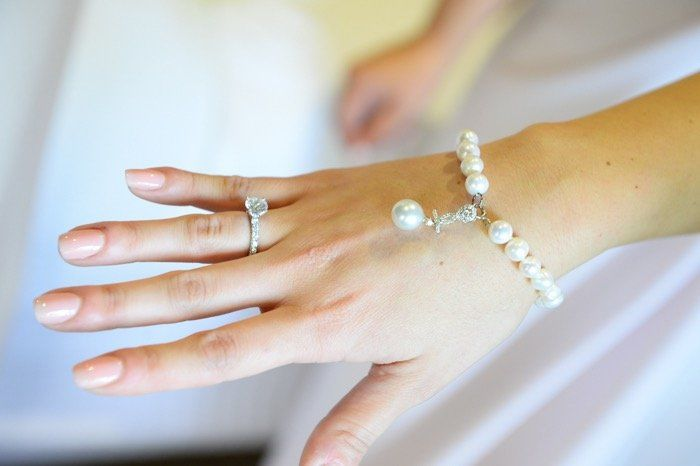 white themed bridal jewellery