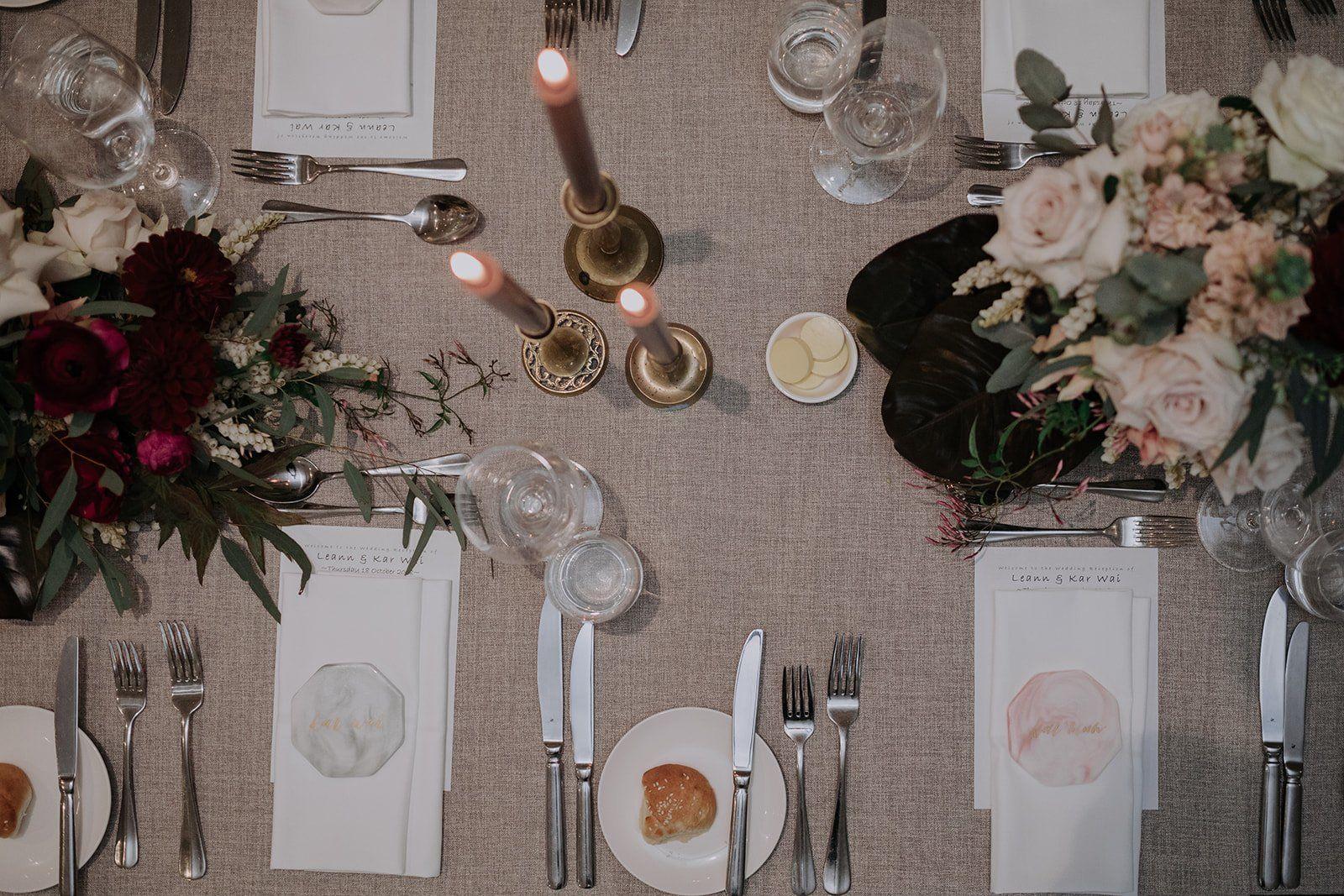 unique wedding table decor