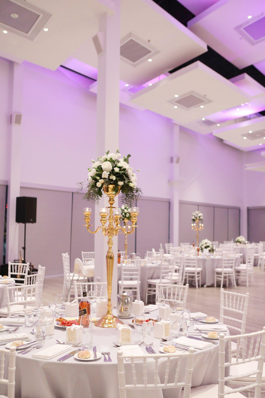 modern wedding venue decor